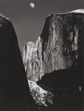 Photographs:20th Century, ANSEL ADAMS (American, 1902-1984). Moon and Half Dome, 1960.Vintage gelatin silver. 9-3/4 x 7-3/8 inches (24.8 x 18.7 c...