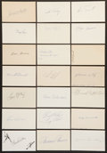 Baseball Collectibles:Others, Baseball Stars Signed Index Cards Lot of 21....