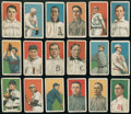 "Baseball Cards:Lots, 1909-11 T206 White Borders Collection (18 Different) - All ""Polar Bear"" Brand Examples...."