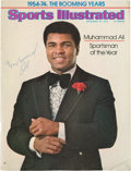 """Boxing Collectibles:Autographs, Muhammad Ali Signed """"Sports Illustrated"""" Cover...."""