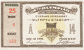Olympic Collectibles:Autographs, 1932 Olympics Summer Games Closing Ceremonies Ticket Stub....