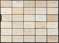 Baseball Collectibles:Others, Baseball Stars Signed Index Cards and Cut Signatures Lot of 30....