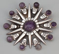 Silver Smalls:Other , A MEXICAN SILVER AND AMETHYST PENDENT BROOCH . William Spratling,Taxco, Mexico, circa 1940-1945. Marks: WS (conjoined),...