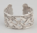 Silver Smalls:Other , A MEXICAN SILVER CUFF . Héctor Aguilar, Taxco, Mexico, circa1940-1945. Marks: HA (conjoined), 940, TAXCO. 1-1/2 x2...