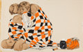 Mainstream Illustration, J. FREDERICK SMITH (American, 20th Century). The CheckeredBlanket, story illustration, circa 1950. Gouache on board.15...