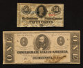 Confederate Notes:1863 Issues, Smallest 1863 Denominations.. ... (Total: 2 notes)