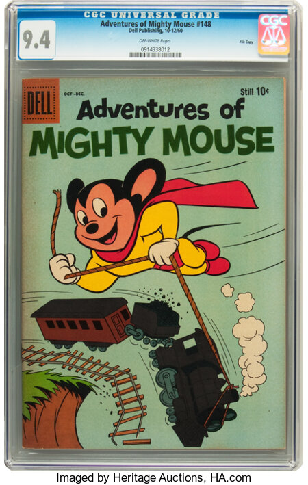 Adventures of Mighty Mouse #148 File Copy (Dell, 1960) CGC NM 9.4 Off-white pages....