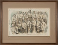 Baseball Collectibles:Others, 1866-74 Harper's Weekly Baseball Woodcuts Lot of 3....