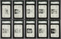 Baseball Cards:Sets, 1936 S & S Game High Grade Complete Set (52). ...
