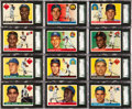 Baseball Cards:Sets, 1955 Topps Baseball Mid To High Grade Complete Set (206). ...