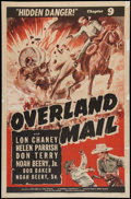 """Movie Posters:Serial, Overland Mail (Universal, 1942). One Sheet (27"""" X 41"""") Chapter 9 --""""Hidden Danger."""" Serial.. ..."""