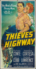 "Movie Posters:Film Noir, Thieves' Highway (20th Century Fox, 1949). Three Sheet (41"" X 81""). Film Noir.. ..."