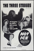 """Movie Posters:Short Subject, Hot Ice (Columbia, 1955). One Sheet (27"""" X 41""""). Comedy ShortSubject.. ..."""