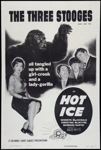 "Hot Ice (Columbia, 1955). One Sheet (27"" X 41""). Comedy Short Subject"