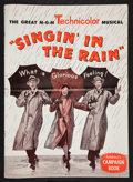 "Movie Posters:Musical, Singin' in the Rain (MGM, 1952). Pressbook (Multiple Pages) (12' X 17""). Musical.. ..."