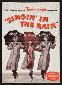 """Singin' in the Rain (MGM, 1952). Pressbook (Multiple Pages) (12' X 17""""). Musical"""
