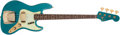 Musical Instruments:Bass Guitars, 2010 Fender Jazz Bass 60's Relic Ocean Turquoise Electric Bass Guitar, #R50159....