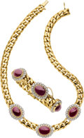 Estate Jewelry:Suites, Ruby, Diamond, Gold Jewelry Suite. ...