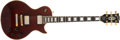 Musical Instruments:Electric Guitars, 1981 Gibson Les Paul Custom Burgundy Electric Guitar, #80981541....