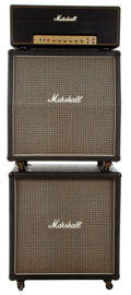 Musical Instruments:Amplifiers, PA, & Effects, 1975 Marshall MK II Super Lead 100W Full Stack #4051G...
