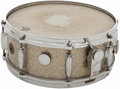 Musical Instruments:Drums & Percussion, 1960s Gretsch Model 4157 Silver Sparkle Snare Drum, #N/A....