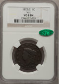 Large Cents, 1823/2 1C VG8 NGC. CAC. N-1. NGC Census: (5/46). PCGS Population(8/67). Mintage: 1,262,000. Numismedia Wsl. Price for prob...