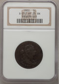 Large Cents, 1800 1C VF25 NGC. S-212. NGC Census: (7/49). PCGS Population(10/45). Mintage: 2,822,175. Numismedia Wsl. Price for problem...