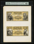 Boston, MA - $50 / $100 National Gold Bank Note Specimens 1870 Hessler NGBE1 / NGBE2 The Kidder National Gold Bank