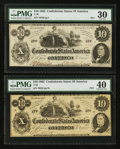 Confederate Notes:1862 Issues, T46 $10 1862 PF-1 Cr. 344.. T46 $10 1862 PF-2 Cr. 343.. ... (Total:2 notes)