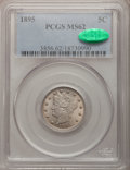 Liberty Nickels: , 1895 5C MS62 PCGS. CAC. PCGS Population (33/276). NGC Census:(30/243). Mintage: 9,979,884. Numismedia Wsl. Price for probl...