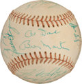 Autographs:Baseballs, 1975 American League All-Star Team Signed Baseball....