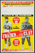 Boxing Collectibles:Autographs, Muhammad Ali Signed Ali/Frazier Closed Circuit Fight Poster....