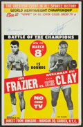 Boxing Collectibles:Autographs, Muhammad Ali and Joe Frazier Signed Closed Circuit Fight Poster....