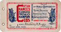 Baseball Collectibles:Tickets, 1911 Chicago Cubs Ticket Booklet with 18 Unused....