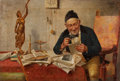 Fine Art - Painting, European:Antique  (Pre 1900), J. MARNO (CONTINENTAL SCHOOL, 19th Century). The Scholar. Oil on canvas. 12-1/2 x 18-1/2 inches (31.8 x 47.0 cm). Signed...