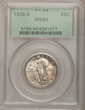 Standing Liberty Quarters: , 1928-D 25C MS64 PCGS. PCGS Population (791/635). NGC Census:(489/486). Mintage: 1,627,600. Numismedia Wsl. Price for probl...