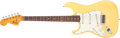 Musical Instruments:Electric Guitars, 1972 Fender Stratocaster Left-Handed Olympic White Electric Guitar,#346778. ...