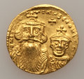 Ancients:Byzantine, Ancients: BYZANTINE EMPIRE. Constans II (AD 641-668) withConstantine IV . AV solidus (4.44 gm). ...