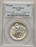 Commemorative Silver: , 1939 50C Oregon MS64 PCGS. PCGS Population (258/729). NGC Census:(86/608). Mintage: 3,004. Numismedia Wsl. Price for probl...