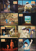 "Movie Posters:Animation, Grave of the Fireflies (Toho, 1988). Japanese Lobby Card Set of 8(11"" X 14""). Animation.. ... (Total: 8 Items)"