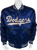 Baseball Collectibles:Uniforms, 1957 Joe Pignatano Game Worn Brooklyn Dodgers Jacket....