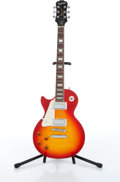 Musical Instruments:Electric Guitars, 2007 Epiphone Les Paul Standard Flame Top Left Handed ElectricGuitar # EE070901065....