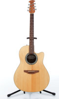 Musical Instruments:Acoustic Guitars, 1980s Ovation 1761 Balladeer Natural Electric Acoustic GuitarSerial# N/A....
