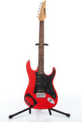 Musical Instruments:Electric Guitars, Ibanez Silver Cadet Red Electric Guitar # N/A....