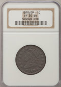Large Cents, 1810/09 1C VF30 NGC. S-281, B-1, R.1....