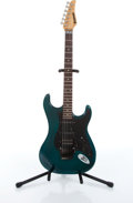Musical Instruments:Electric Guitars, 1983 Kramer Pacer Green Electric Guitar #0126....