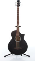 Musical Instruments:Bass Guitars, 2007 Ibanez EWB10ASEOBK 1201 Black Acoustic Electric Bass Guitar # SQ0701065....