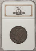 Large Cents, 1801 1C 1/000 VF35 NGC. S-220, B-12, R.3....
