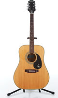 Musical Instruments:Acoustic Guitars, 1980-90s Epiphone FT-155 Flattop Natural Acoustic Guitar #111216....