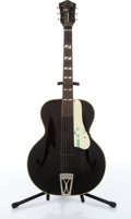 Musical Instruments:Acoustic Guitars, 1940 Harmony Roy Smeck Artiste H1442 Black Archtop Acoustic Guitar Serial# N/A....